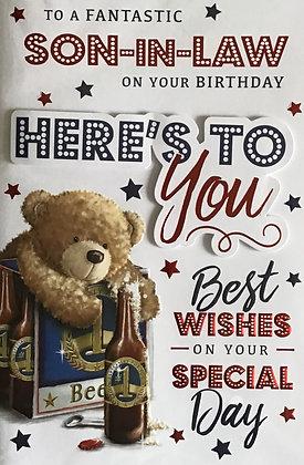 Son In Law Birthday Card