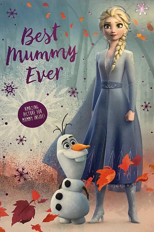 Mummy (Disney Frozen) Birthday Card