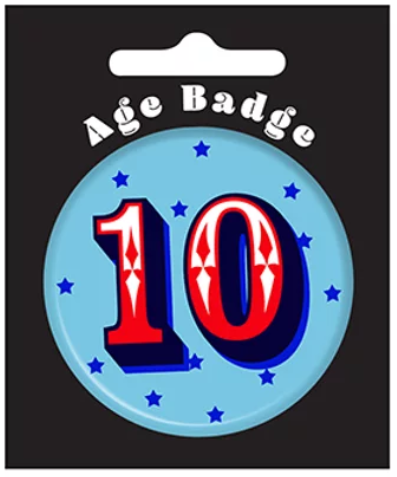 10th Birthday Badge (5.5cm)