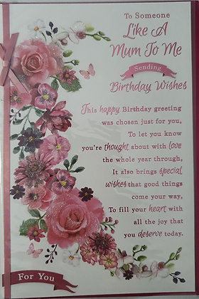 Like A Mum Birthday Card