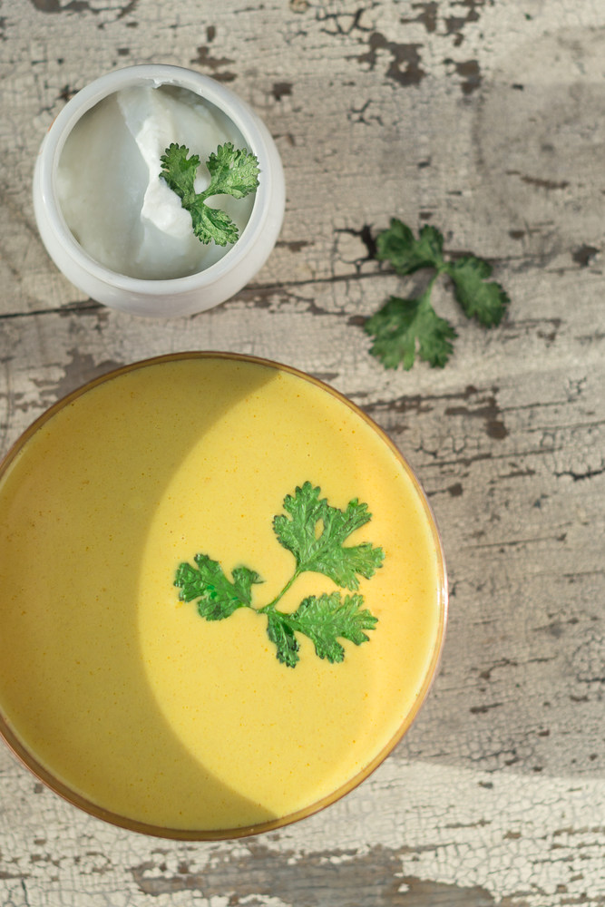 Curried Yogurt Soup