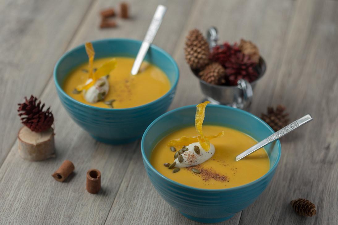 Butternut Squash Soup with Nutmeg Cream