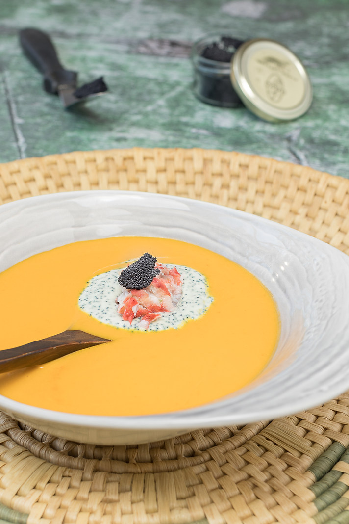 Crab Bisque with Caviar