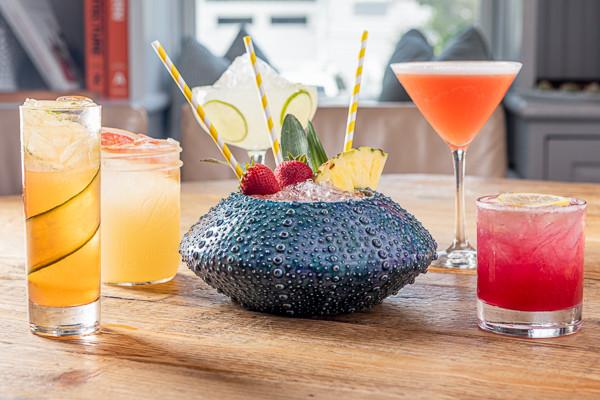 cocktails at Tides Beach Club