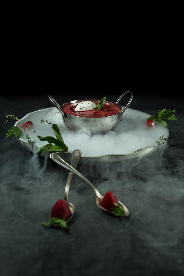 Rhubarb Champagne Soup