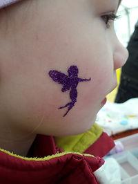 glitter tattoo, tatu z bleščicami
