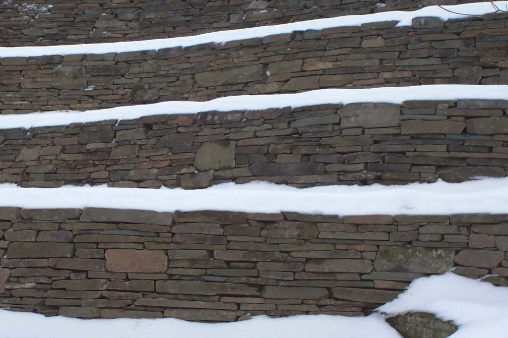 Up close of stone wall
