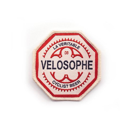 Badge Velosophe à coller ou à coudre