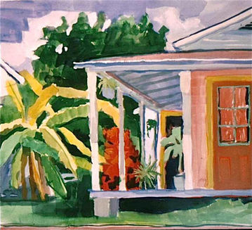 Conch  Porch and Yard