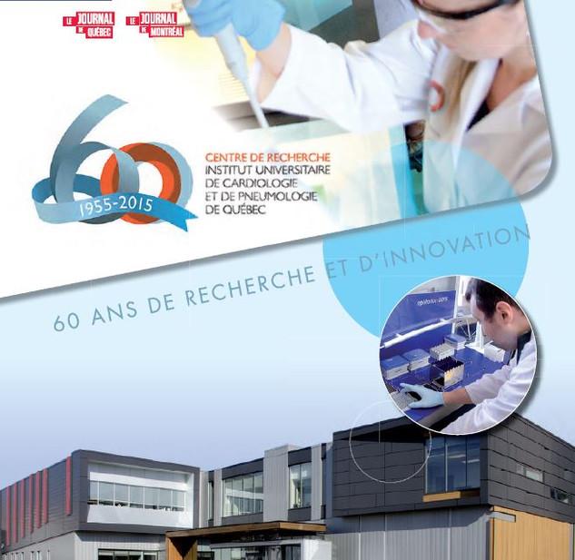 Rédaction - Cahier spécial, 60e anniversaire du Centre de recherche de l'IUCPQ