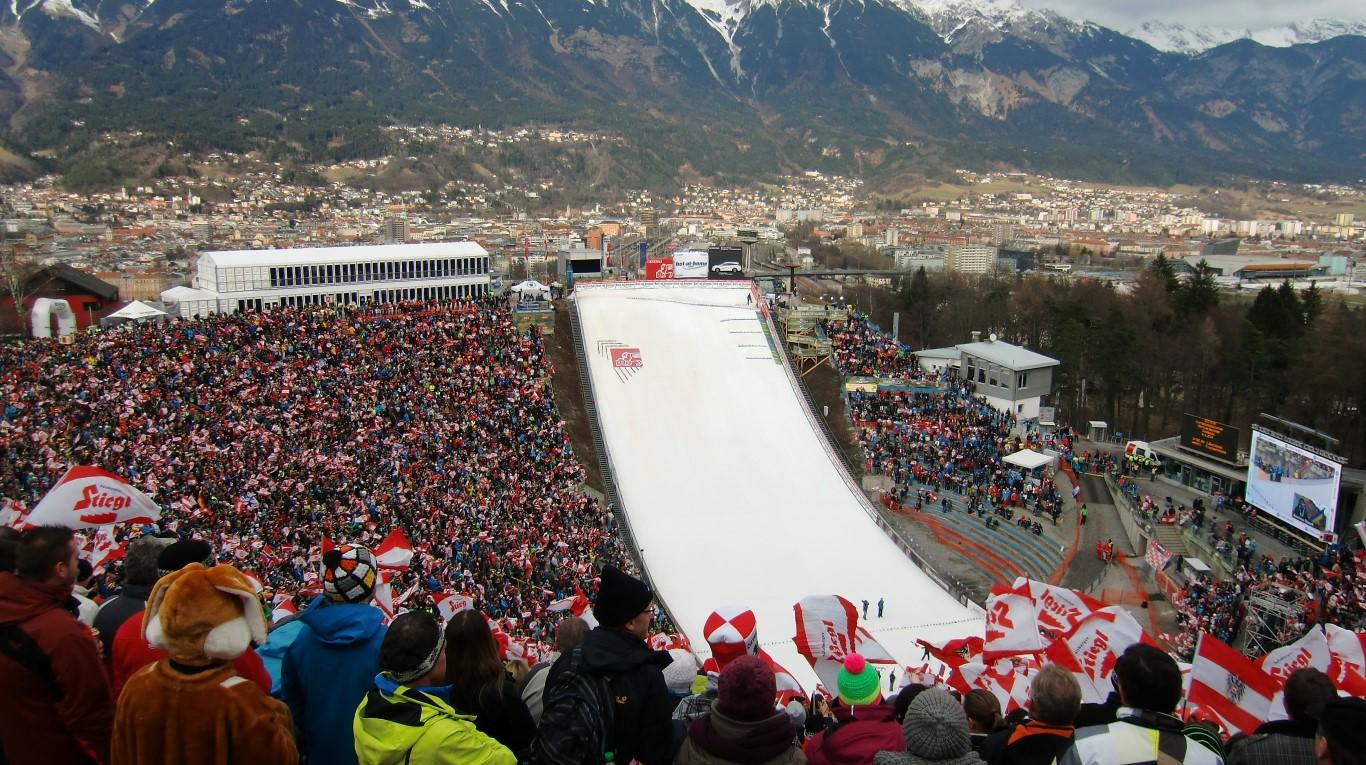 Ein tolles Ski-Stadion