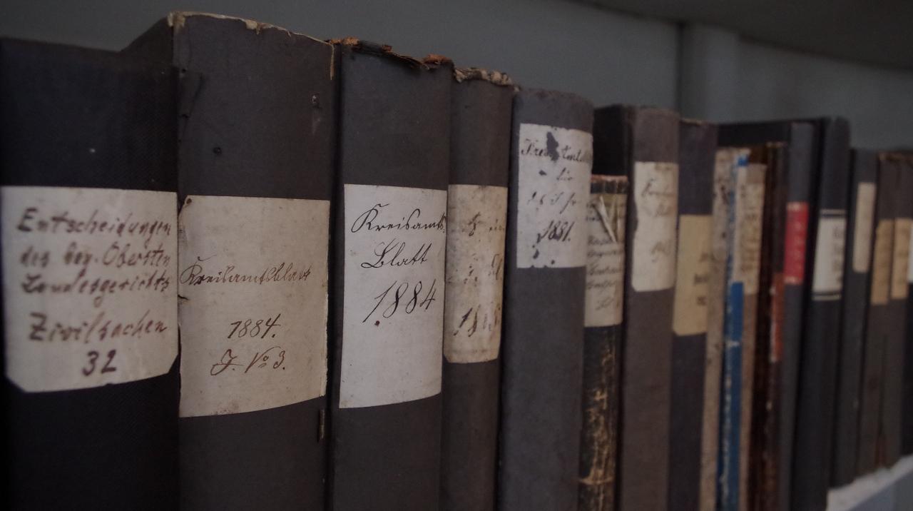 Alte Schmöker in der Bibliothek