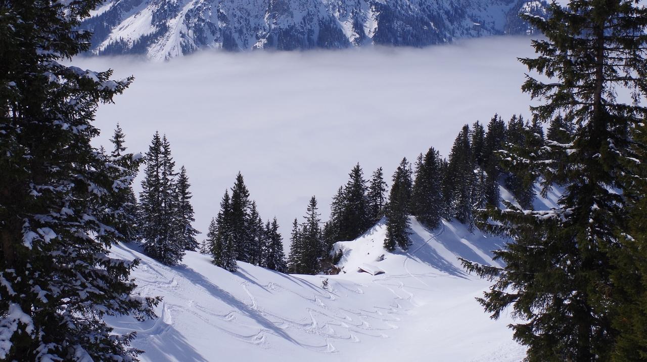 Per Ski würde dort hinab gehen