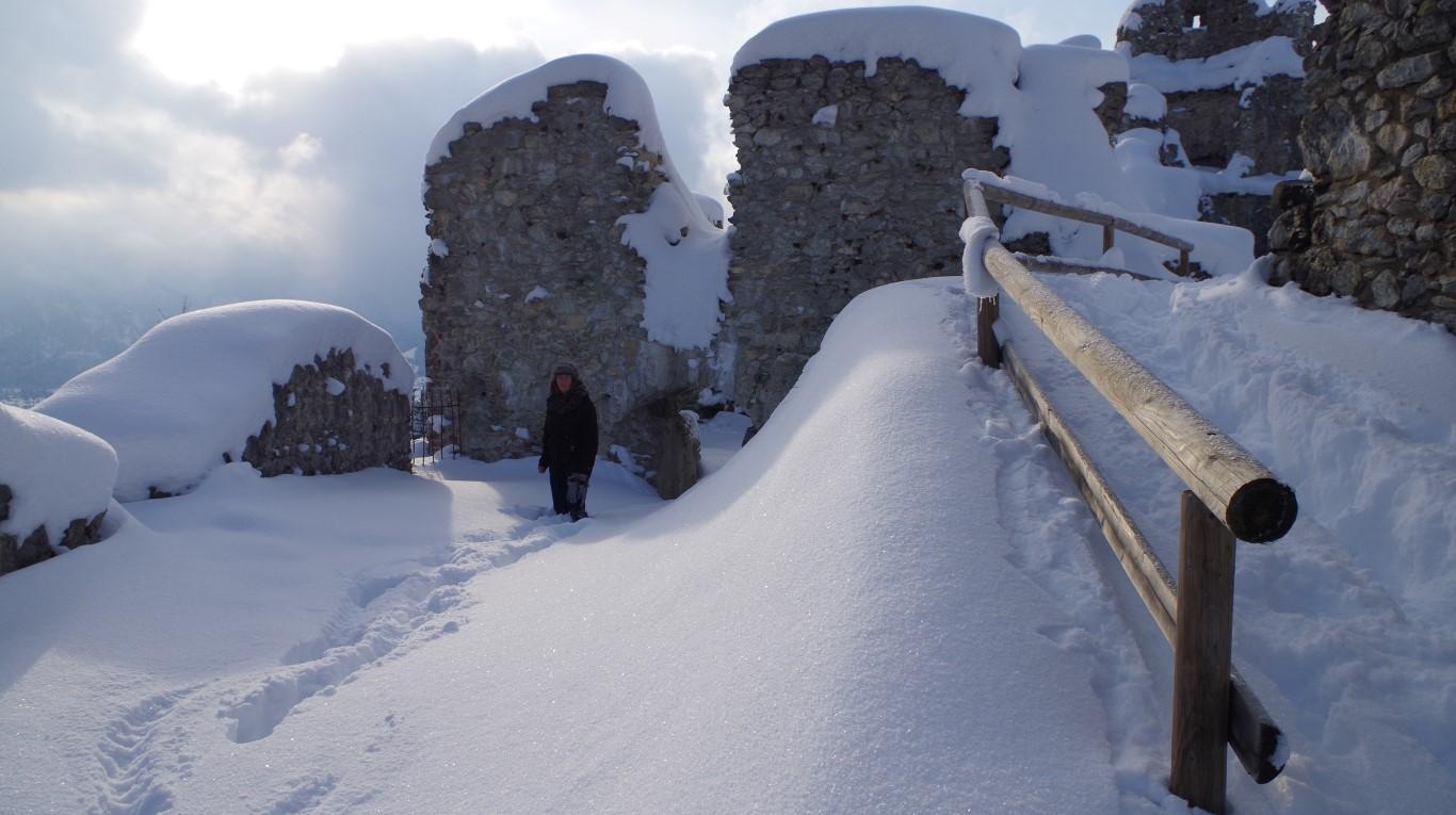 In der Ruine Hohenfreyberg