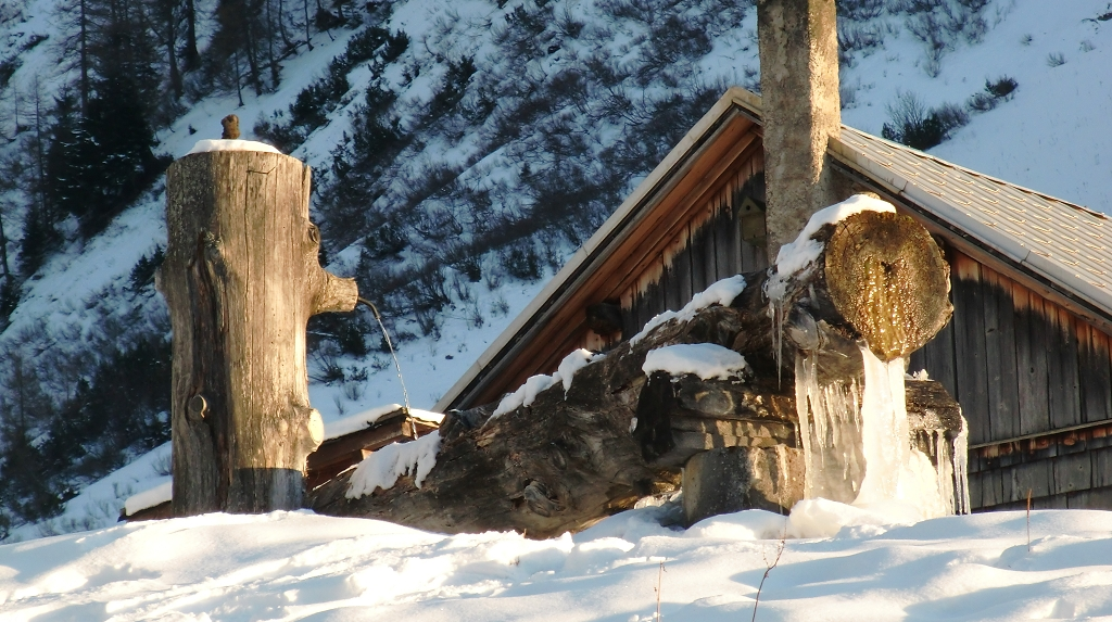 Winterzauber an der Tränke