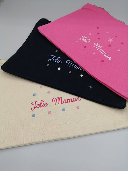 Pochette coton jolie maman