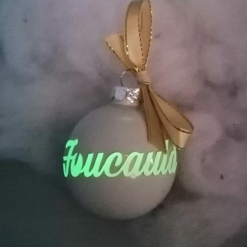 Boule de Noël phosphorescente 5.5 cm