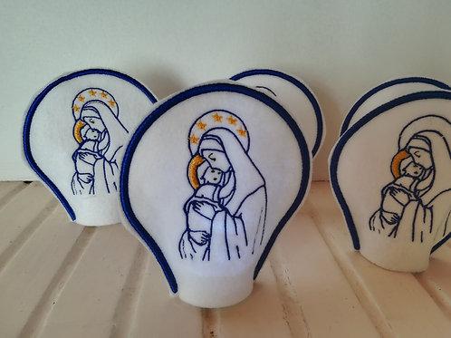 veilleuse Vierge à L'enfant couronnée