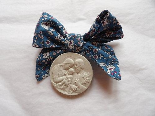 Médaille de berceau -  Sainte Famille - bleu