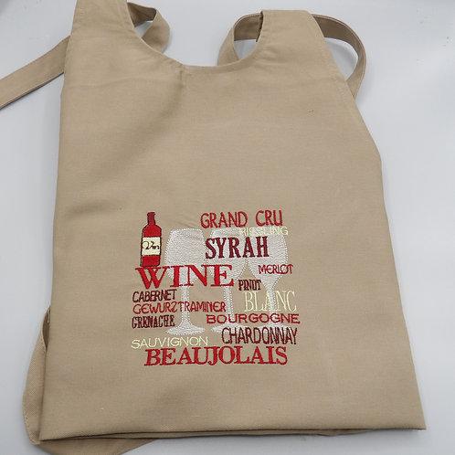 Tablier coton - modèle Au plaisir du Vin