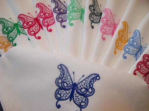 Linge de table - modèle Papillons