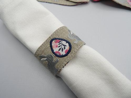 Rond de serviette Pâques - modèle D