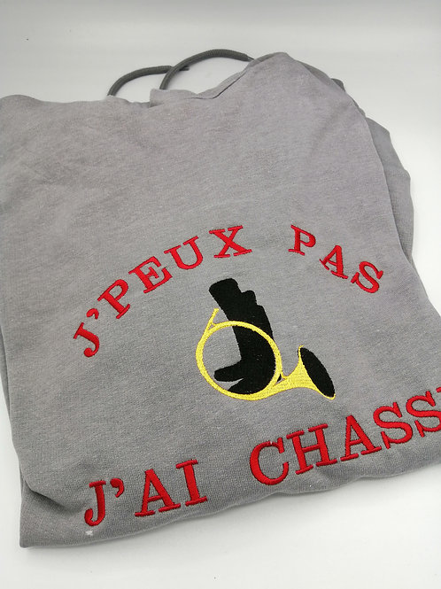 Sweat XL chasse gris