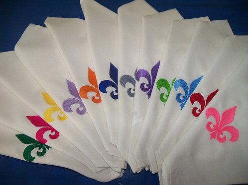 serviette de table brodée dessin, prénom, monogramme à l'unité