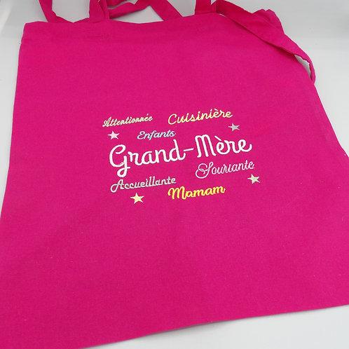 """Tote Bag """"Grand Mère"""" - modèle nuage de mots"""