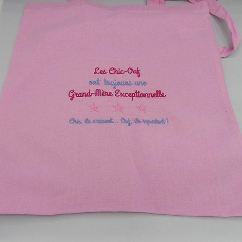 "Tote Bag ""Grand Mère"" - modèle Chic-Ouf"