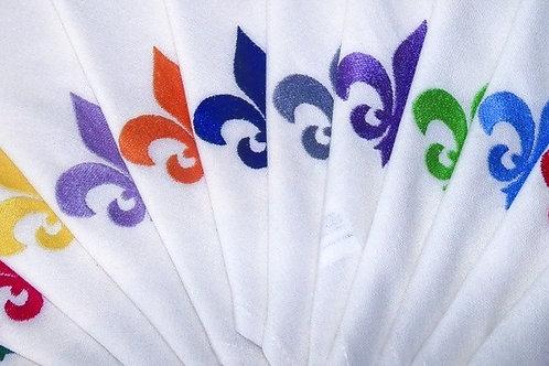 serviettes de table brodées dessin