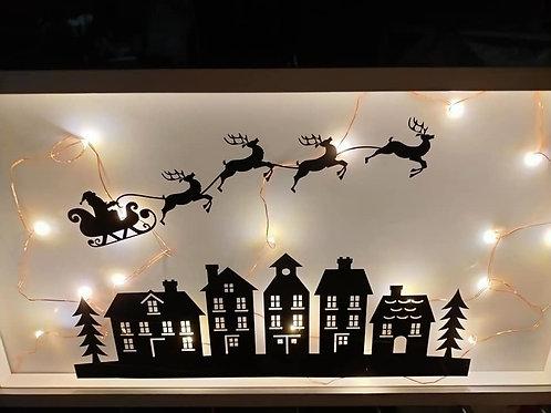 grande vitrine thème Noël