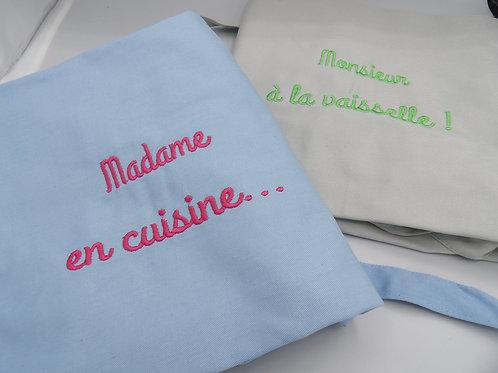 Duo tabliers- Monsieur Madame