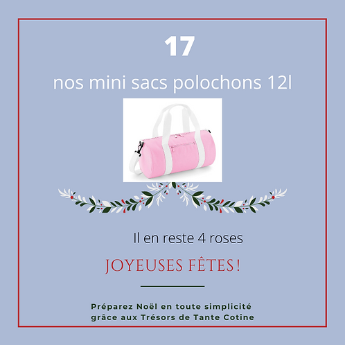 Mini sac Week-End Initiale ou autre broderie taille 1 (12l)