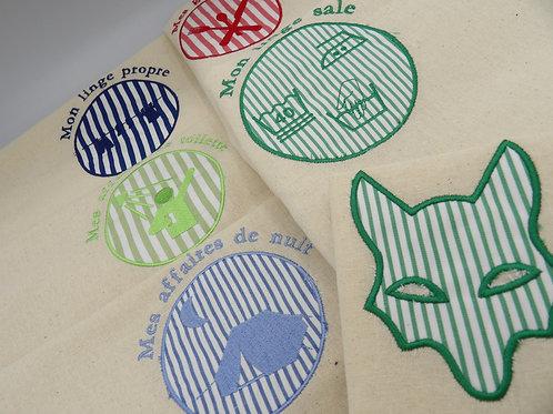 sacs de camp - lot rayures