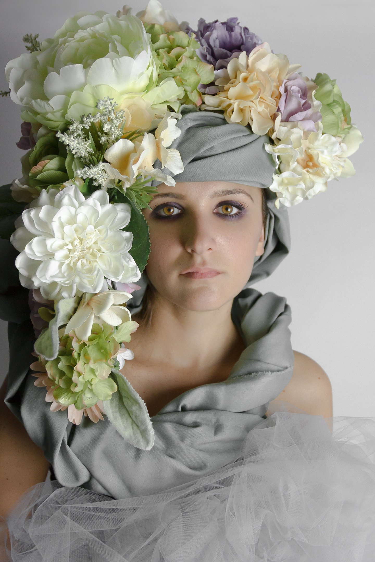 Bouquet on Grey