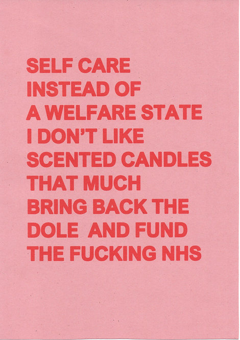 Self Care Pink Positive Poster