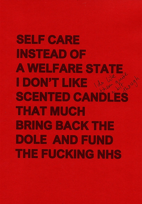 Self Care Red Positive Poster