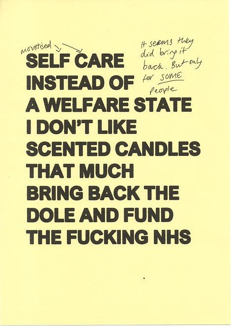 Pastel Yellow Self Care
