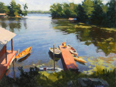 Lake Front with Boats