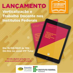 LANÇAMENTO DE LIVRO DIA 16 de março, 10 horas, IFF Tube