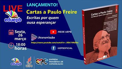 CARD LIVE LANÇAMENTO livro 1 PAULO FREIR