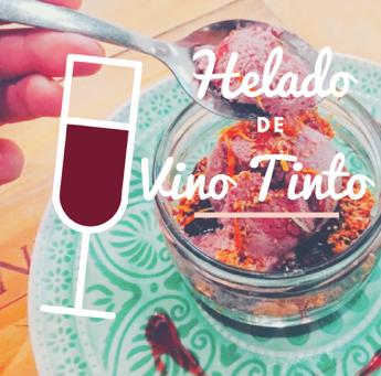 Receta: Helado de Vino Tinto