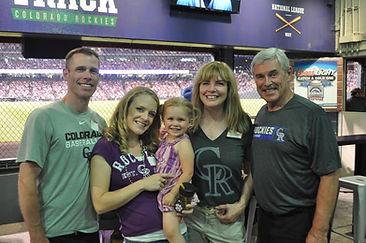 Jo-Ann Holst Advisers Team at Rockies Game