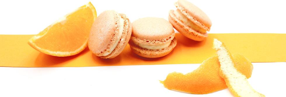 Classic box of Orange Blossom and Redcurrant Macarons