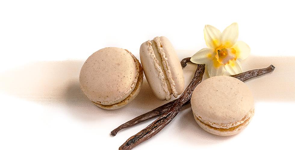 Classic box of Madagascan Vanilla Macarons