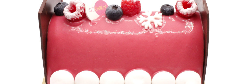 Red Berries Yule Log