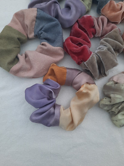 color block scrunchies
