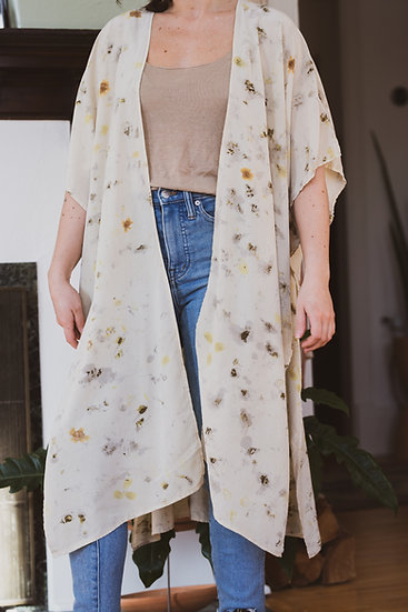 breeze duster in summer floral