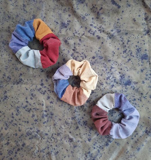 color block scrunchies